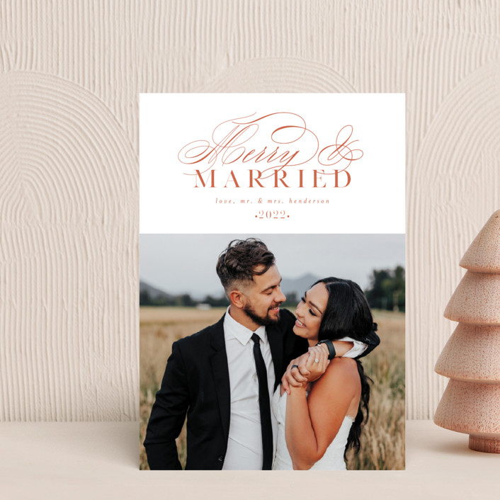 """""""So Merry Married"""" - Holiday Postcards in Persimmon by Ashlee Townsend."""