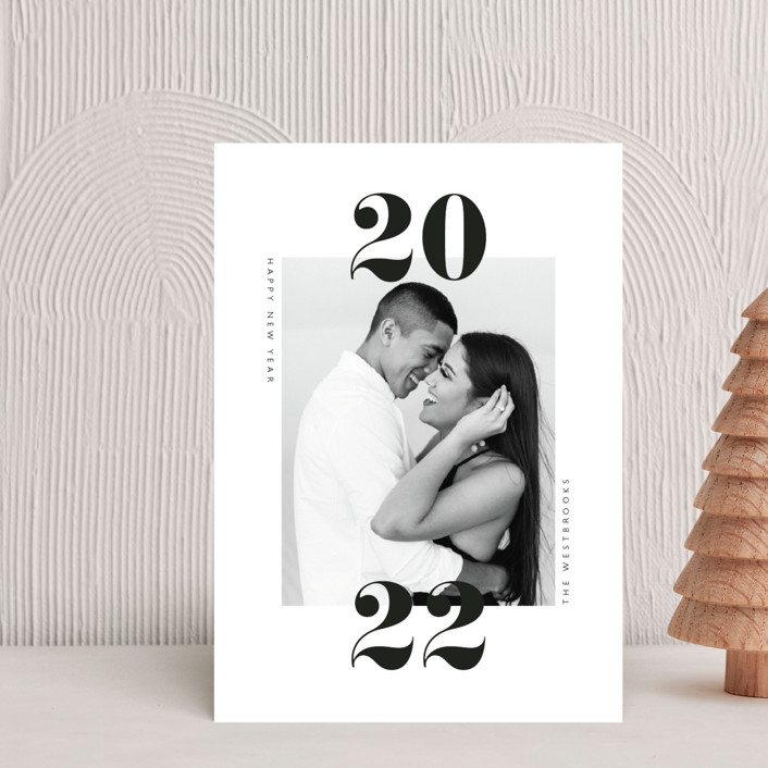 """twenty-twenty-one"" - Holiday Postcards in Cloud by Erin Deegan."