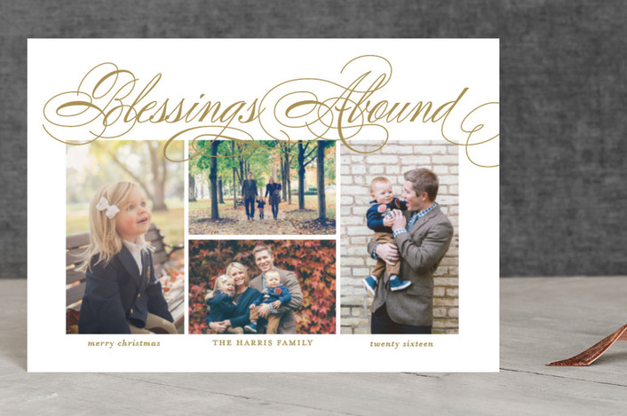 """""""Blessings Abound"""" - Holiday Postcards in Golden by Lauren Chism."""