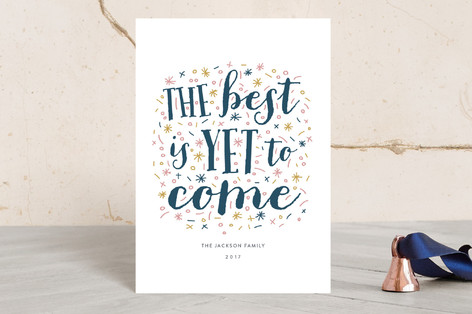 New Year Message Holiday Postcards