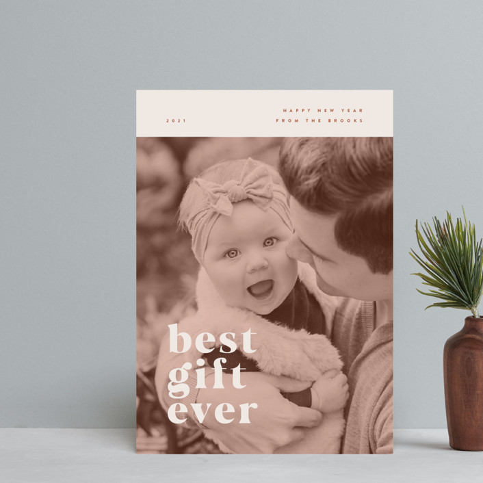 """""""our best gift ever"""" - Holiday Postcards in Chocolate by Anastasia Makarova."""