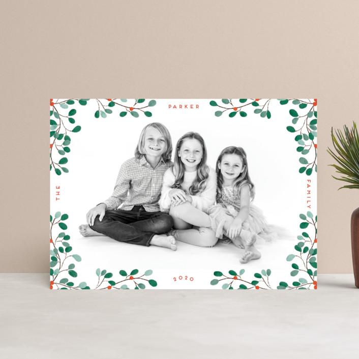 """""""A little Mistletoe"""" - Holiday Postcards in Mistletoe by Gwen Bedat."""