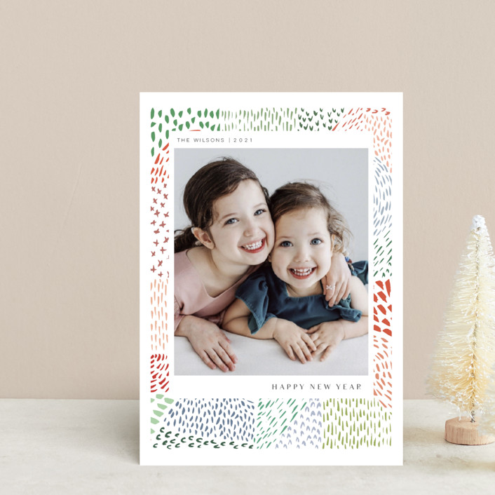 """Merry Marks"" - Holiday Postcards in Holly by Kelly Ventura."