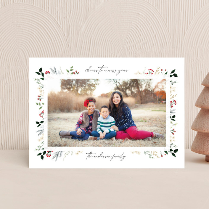 """""""Love, Peace & Hope"""" - Holiday Postcards in Crimson by Susan Moyal."""