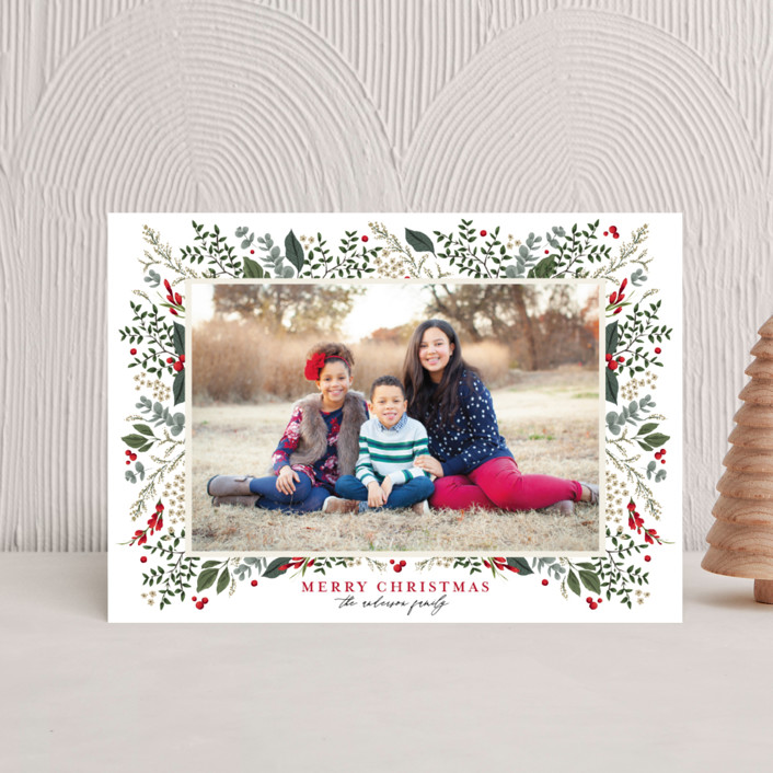"""""""Classic Christmas"""" - Holiday Postcards in Crimson by Susan Moyal."""