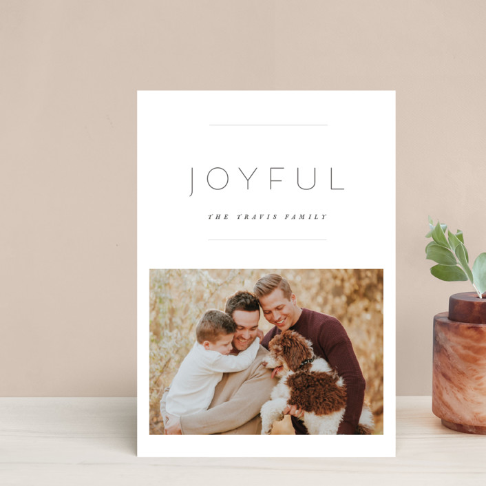"""""""the edit"""" - Holiday Postcards in Linen by Design Lotus."""