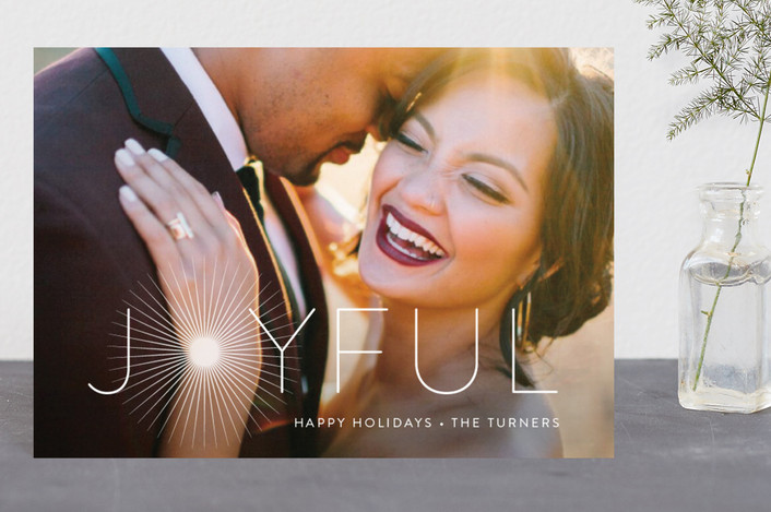 """Joyful & Glowing"" - Holiday Postcards in Pearl by Chryssi Tsoupanarias."
