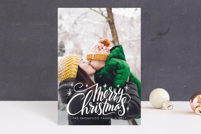 """Merry Burst"" - Holiday Postcards in Snow by Jamie Schultz Designs."