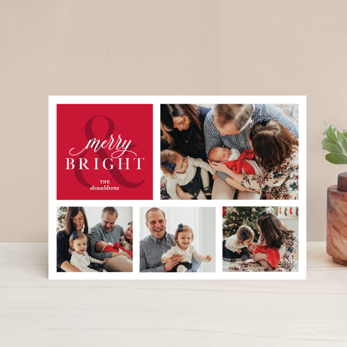 """Merrily Bright"" - Holiday Postcards in Cherry by Ellis."