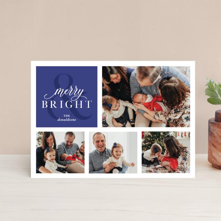 """Merrily Bright"" - Holiday Postcards in Denim by Ellis."
