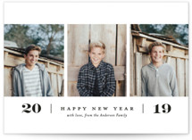 Simple. New. Year. Holiday Postcards