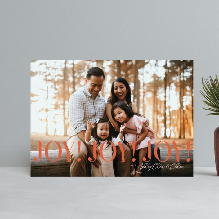 """JoyJoyJoy"" - Holiday Postcards in Pumpkin by cyrille gulassa."