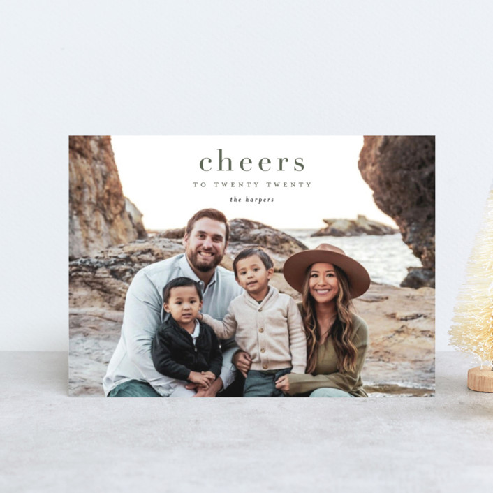 """""""yearly cheers"""" - Holiday Postcards in Hunter by Kasia Labocki."""