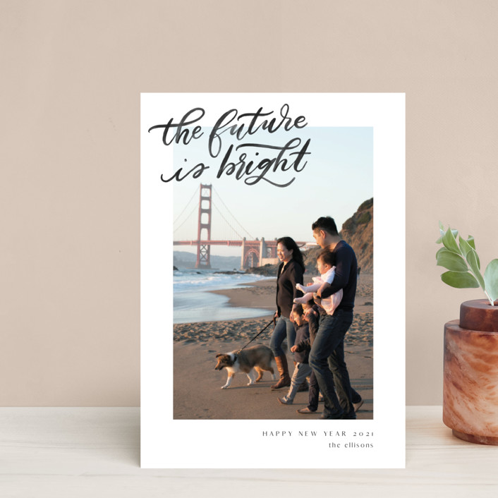 """""""A Bright Future"""" - Bohemian Holiday Postcards in Snow by Ashley DeMeyere."""