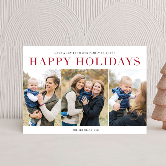 """classic sentiment"" - Holiday Postcards in Peppermint by Jennifer Lew."