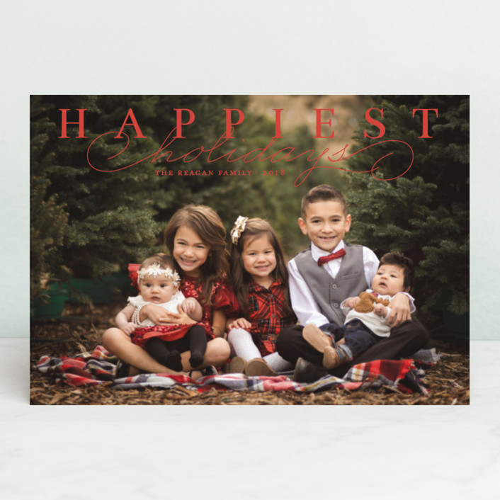 """Happiest Classic"" - Holiday Postcards in Holly Berry by Alston Wise."