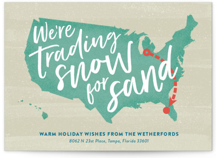 Snow and Sand Holiday Postcards