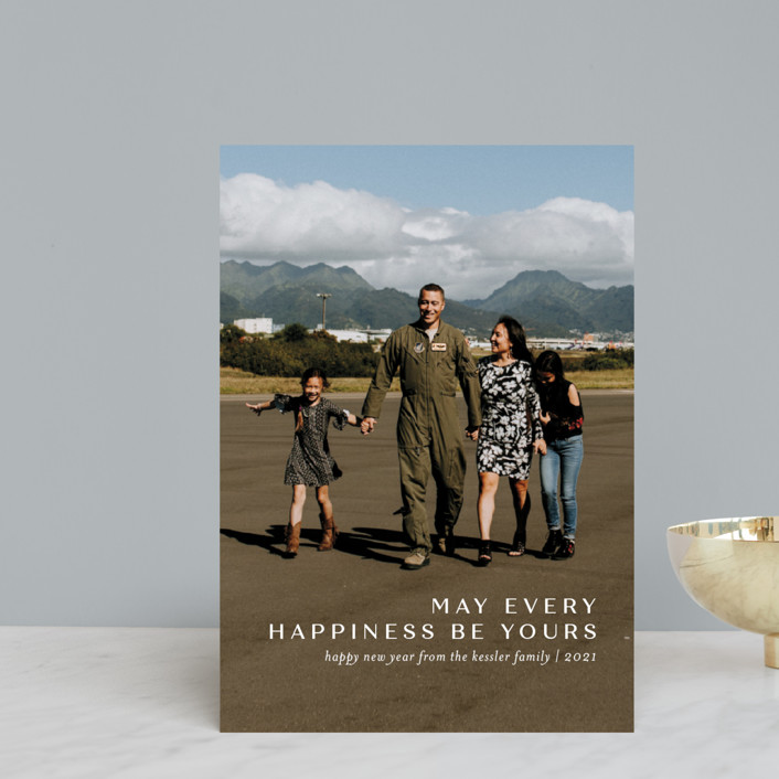 """""""Every Happiness"""" - Holiday Postcards in Snow by Jessica Williams."""