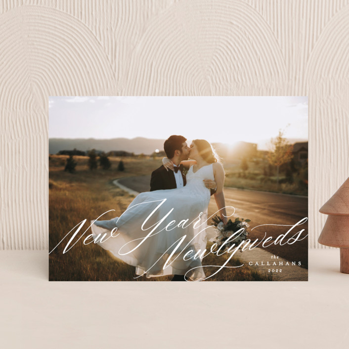 """New Year Newlyweds"" - Holiday Postcards in Diamond by Ella Weaver."