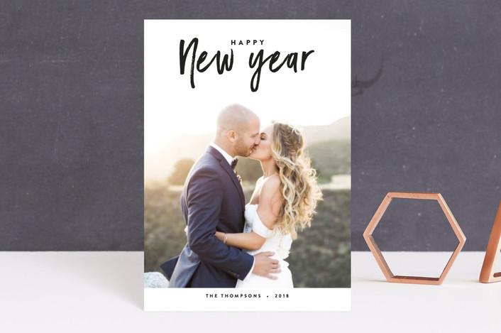 """""""Abundant Year"""" - Holiday Postcards in Onyx by Jennifer Lew."""