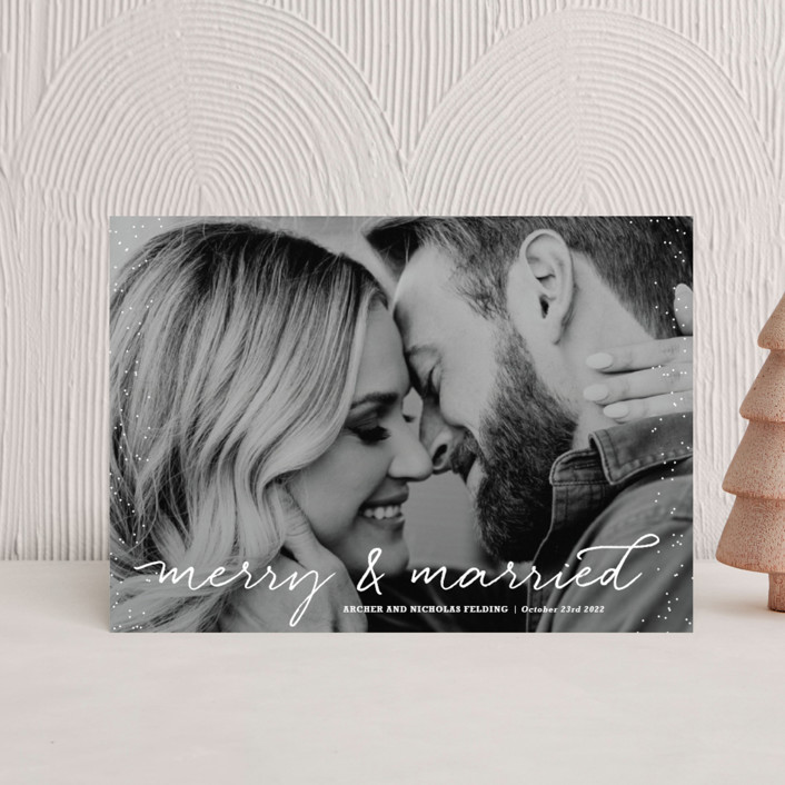 """Merry and Married"" - Holiday Postcards in Icing by Design Lotus."