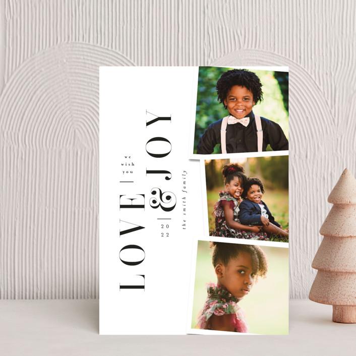 """Love&Joy"" - Holiday Postcards in Snow by Ana de Sousa."