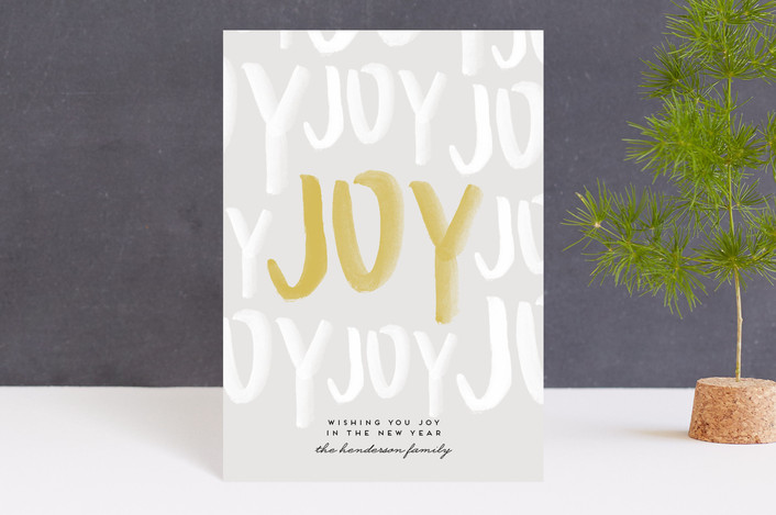 """""""Joyful Holiday"""" - Holiday Postcards in Snow by Annie Montgomery."""