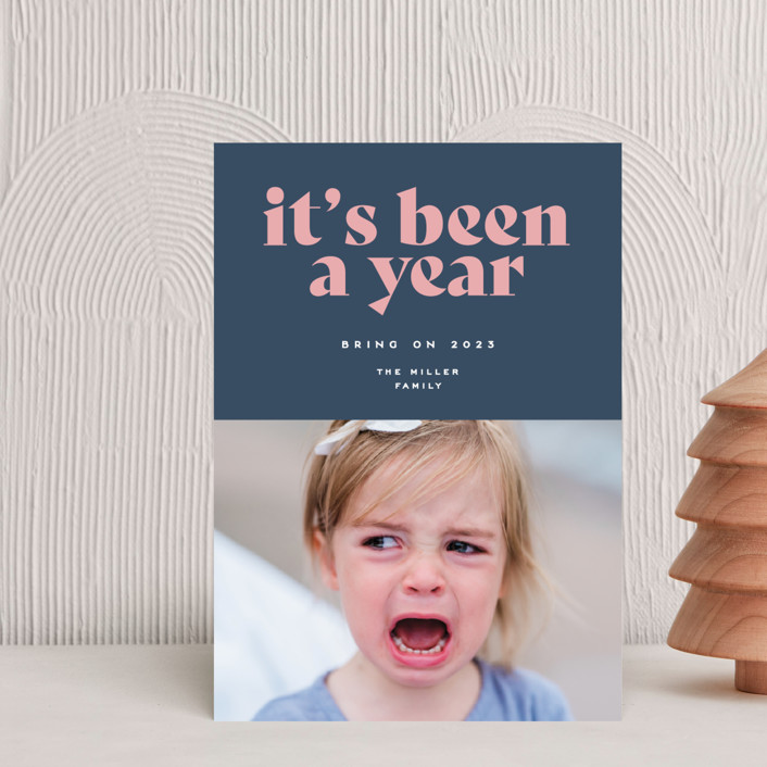 """""""It's been a year"""" - Holiday Postcards in Wintermint by Owl and Toad."""