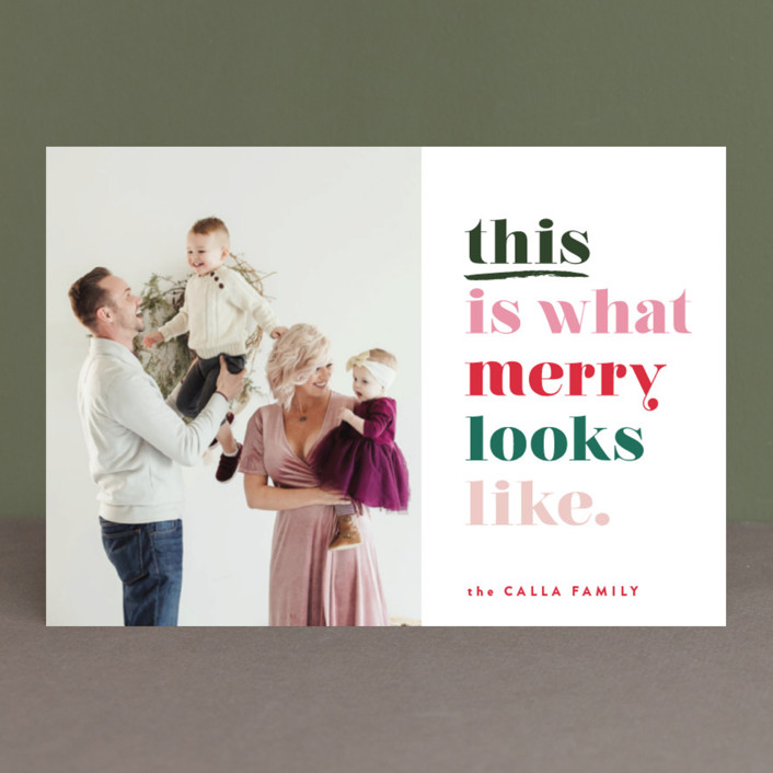 """""""this is merry"""" - Funny Holiday Postcards in Candy Canes by Carrie ONeal."""