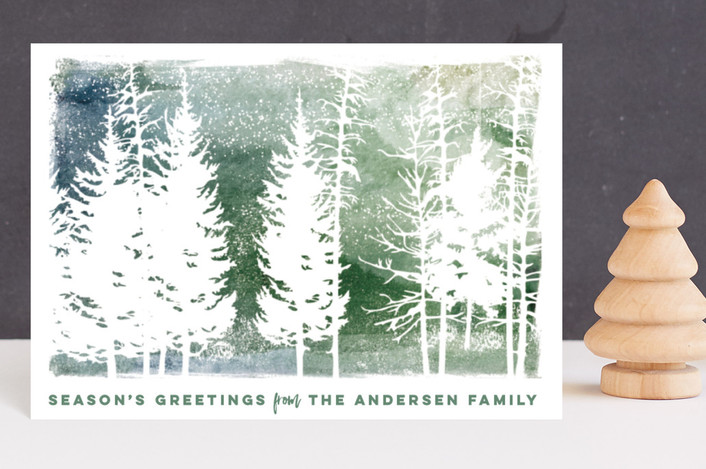 """""""laser-cut trees"""" - Bohemian Holiday Postcards in Forest by pandercraft."""