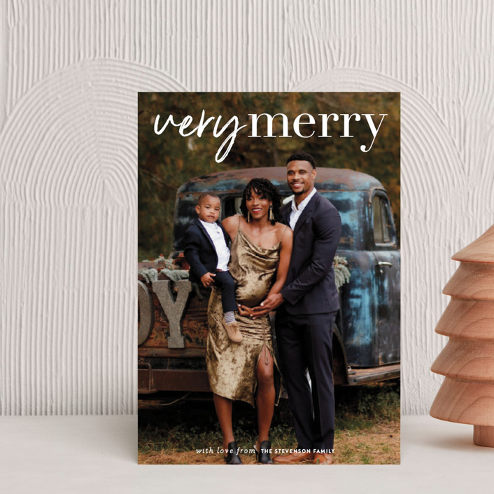 """very merry moment"" - Holiday Postcards in Snow by Sara Hicks Malone."