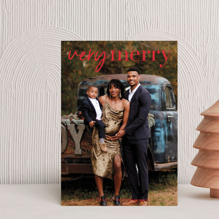 """""""very merry moment"""" - Holiday Postcards in Holly by Sara Hicks Malone."""