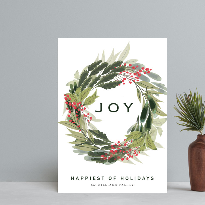 """""""sweet wreath of joy"""" - Holiday Postcards in Berry by frances."""