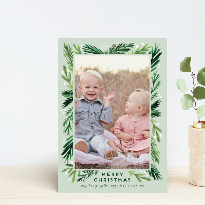 """""""Branches Framed"""" - Holiday Postcards in Eucalyptus by Amy Kross."""