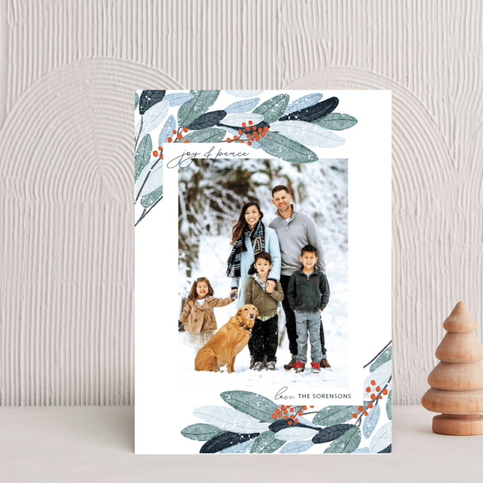 """""""Wintery Eucalyptus"""" - Holiday Postcards in Snow by Angel Walker."""