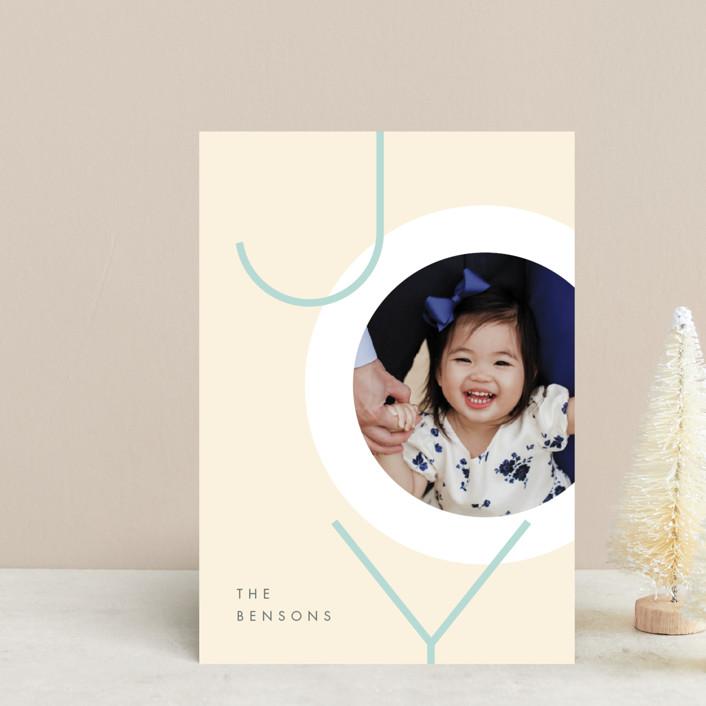 """Boldly Modern"" - Modern Holiday Postcards in Navy by JeAnna Casper."