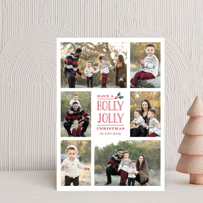 """""""Holly Jolly Holla"""" - Holiday Postcards in Holly by Michelle Poe."""
