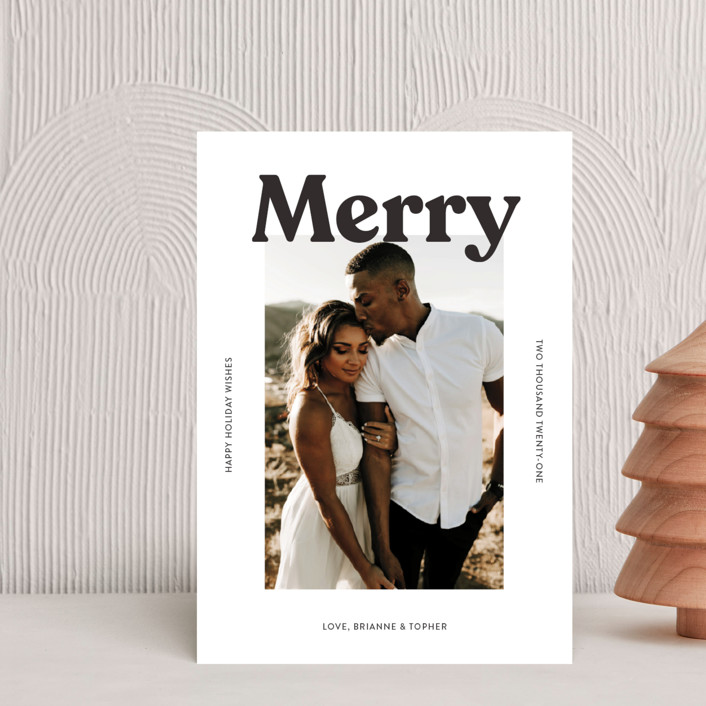 """""""Merry Color Overlay"""" - Holiday Postcards in Snowflake by Chryssi Tsoupanarias."""