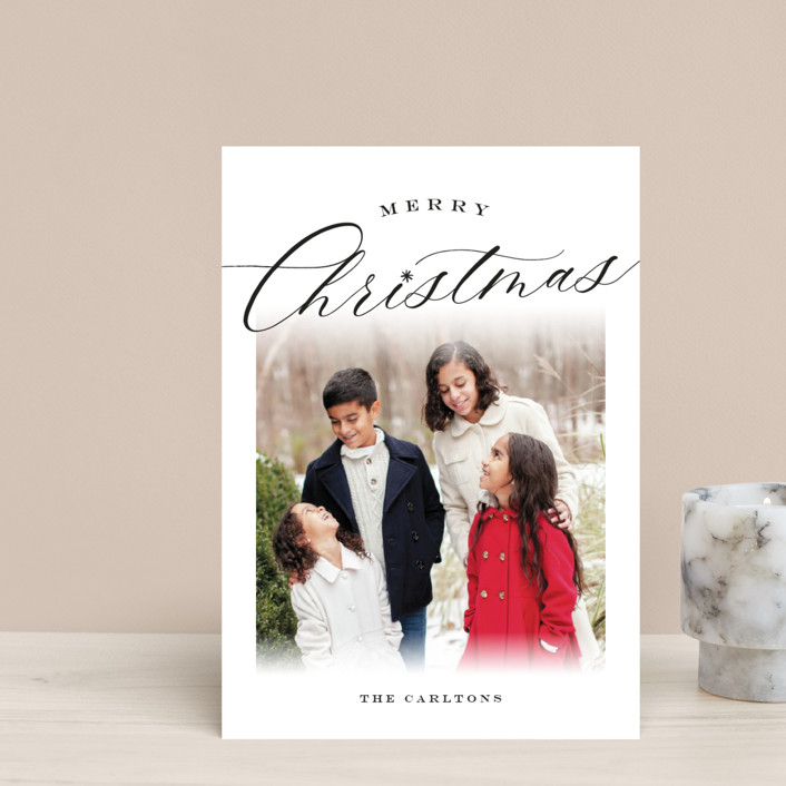"""Christmastide"" - Holiday Postcards in Onyx by Sarah Curry."