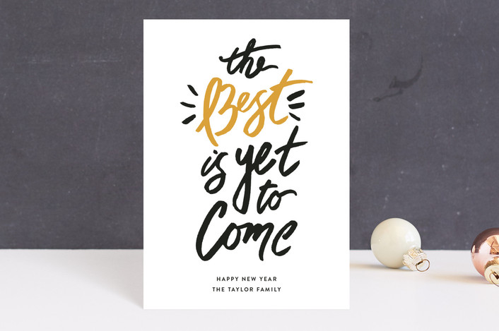 """""""Best of the Best"""" - Holiday Postcards in Butterscotch by Shiny Penny Studio."""