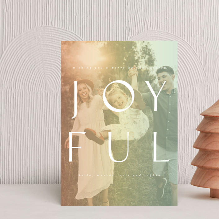 """""""Fully Joyful"""" - Holiday Postcards in Sherbet by Ashlee Townsend."""