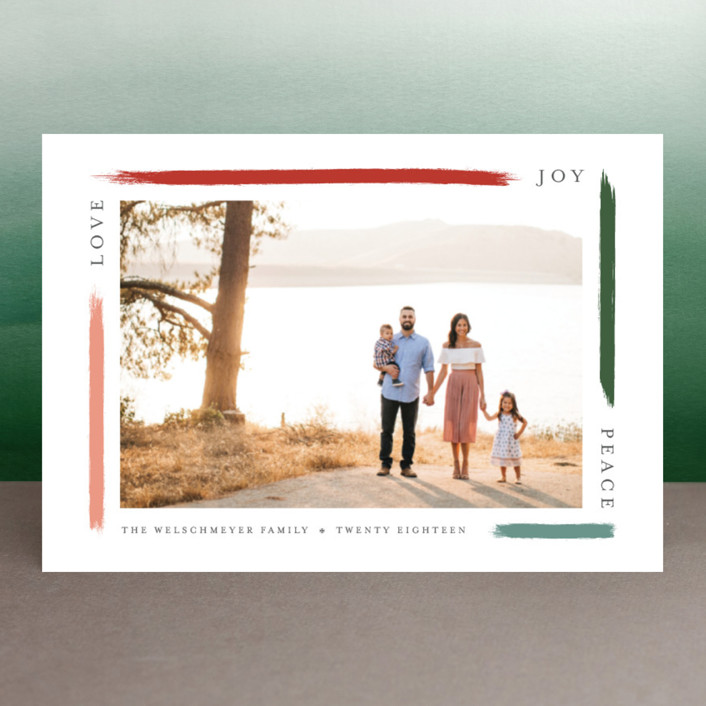 """""""holiday brushed"""" - Holiday Postcards in Apple by Bethany McDonald."""