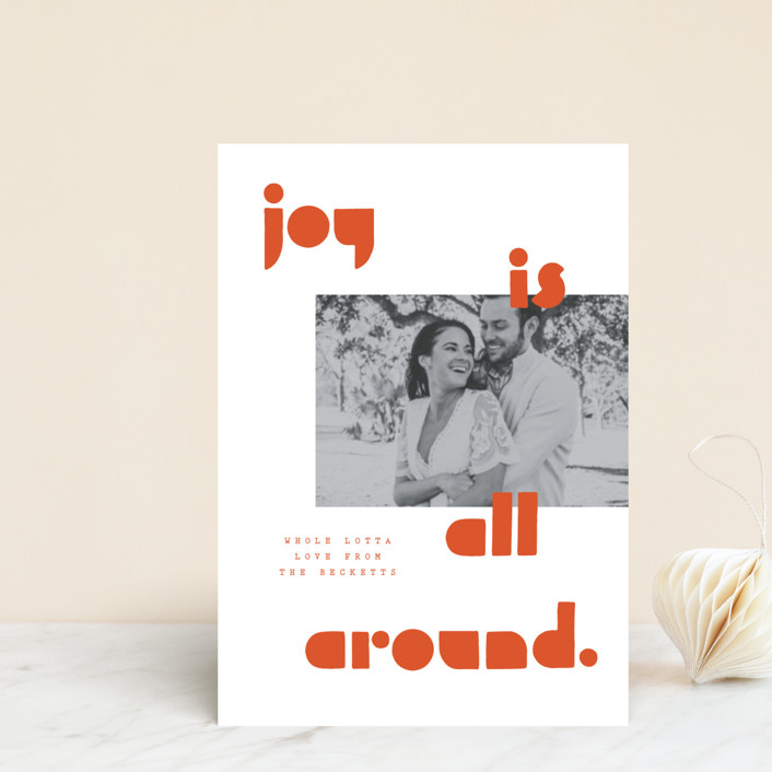 """Joy Scout"" - Holiday Postcards in Persimmon by Yours Madly."