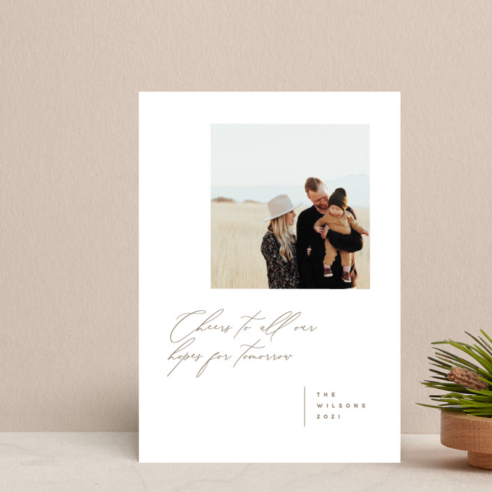 """""""New Tomorrows"""" - Holiday Postcards in Fawn by Susan Brown."""