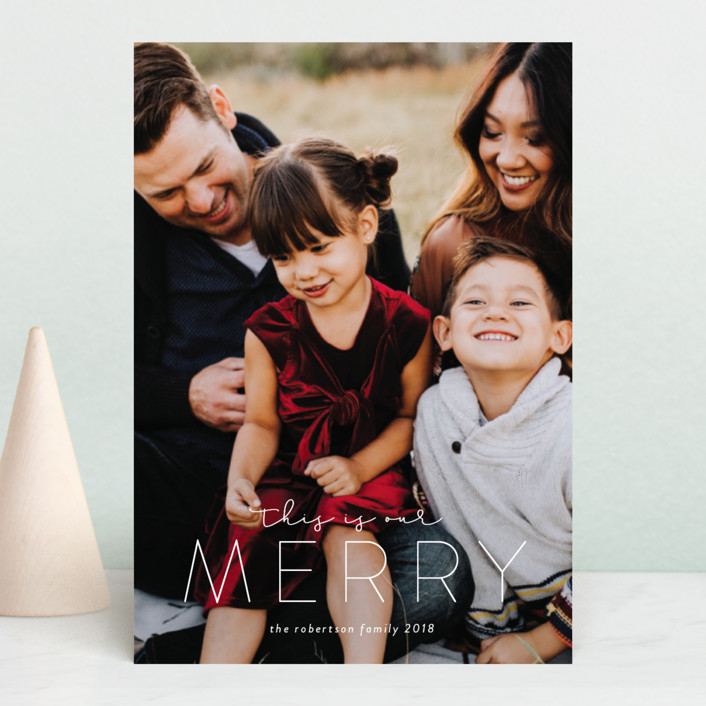 """""""This is Our Merry"""" - Holiday Postcards in Snow by Roxy Cervantes."""