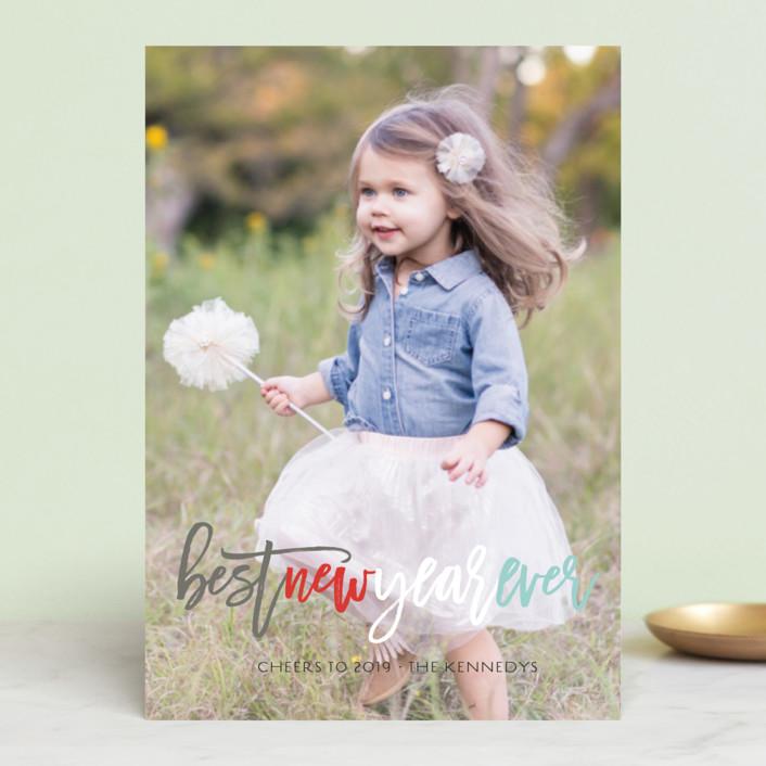 """Colorful Joy Peace Love Hope"" - Holiday Postcards in Aqua Sky by fatfatin."