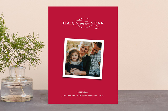"""Elegant Trio"" - Holiday Postcards in Cranberry by Paper Dahlia."