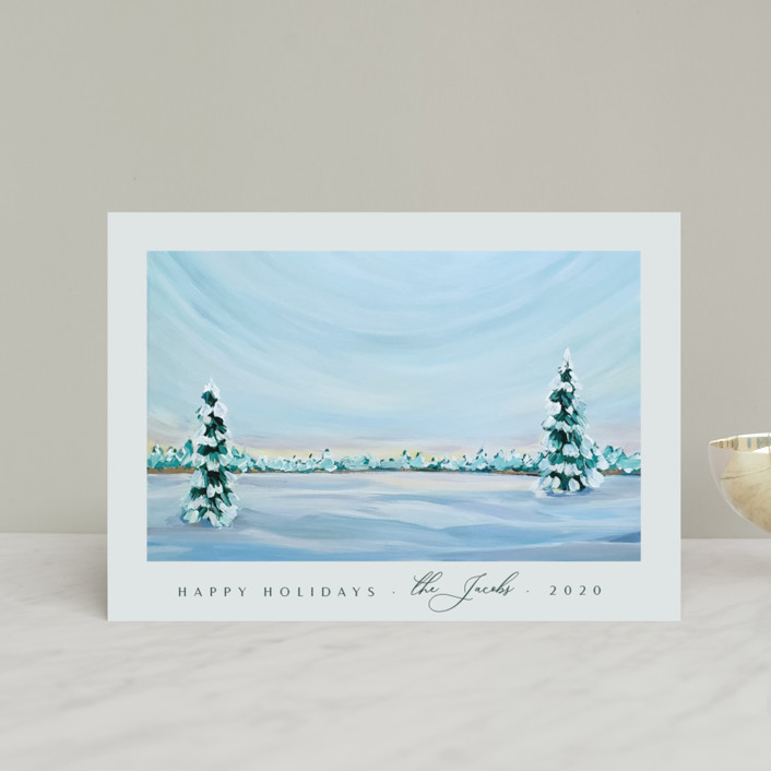 """""""Morning Light"""" - Holiday Postcards in Snowfall by Nicole Walsh."""