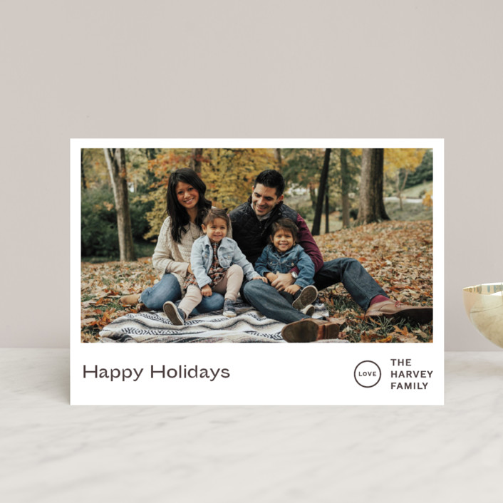 """""""Punched"""" - Holiday Postcards in Chestnut by Jack Knoebber."""