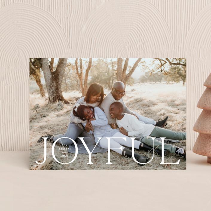 """Joyful Tidings"" - Holiday Postcards in Snowfall by Susan Asbill."